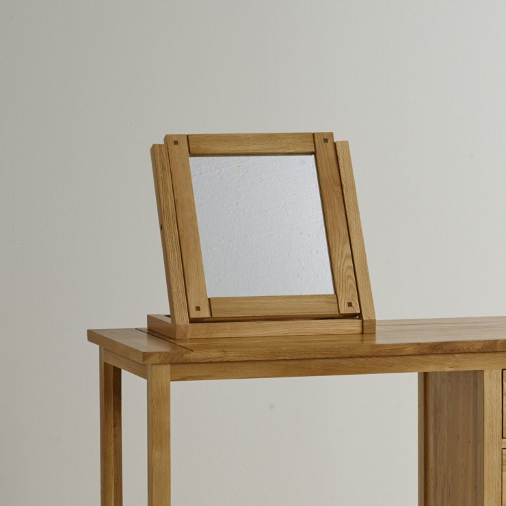 Newark Natural Solid Oak Dressing Table Mirror