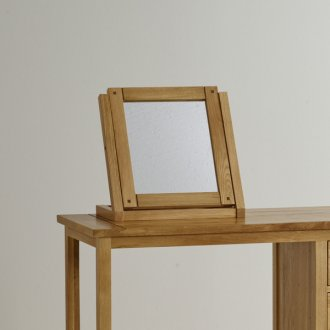 Newark Natural Solid Oak Dressing Table Mirror