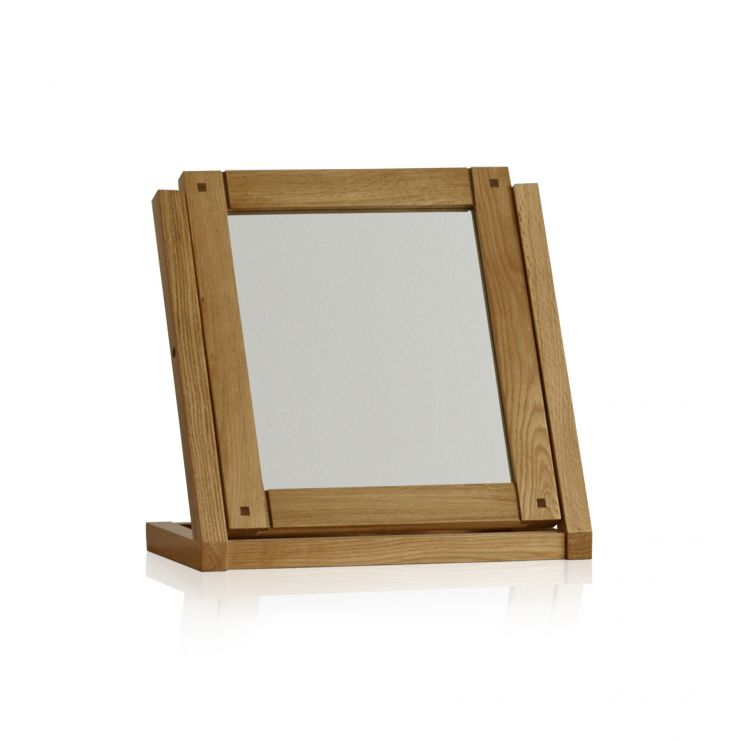 Newark Natural Solid Oak Dressing Table Mirror - Image 4