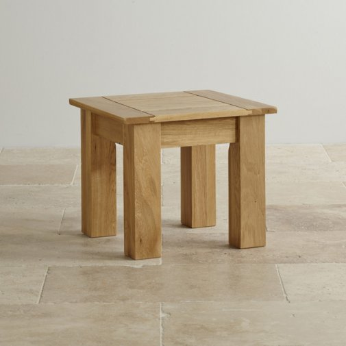 Contemporary Natural Solid Oak Side Table