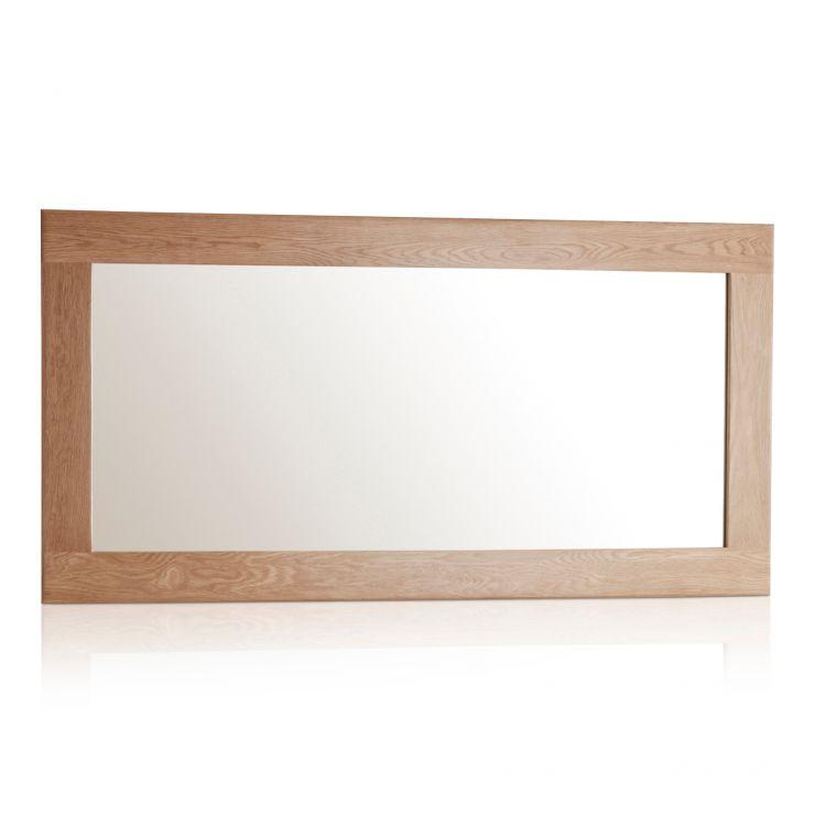 Oakdale Natural Solid Oak 1200mm x 600mm Wall Mirror