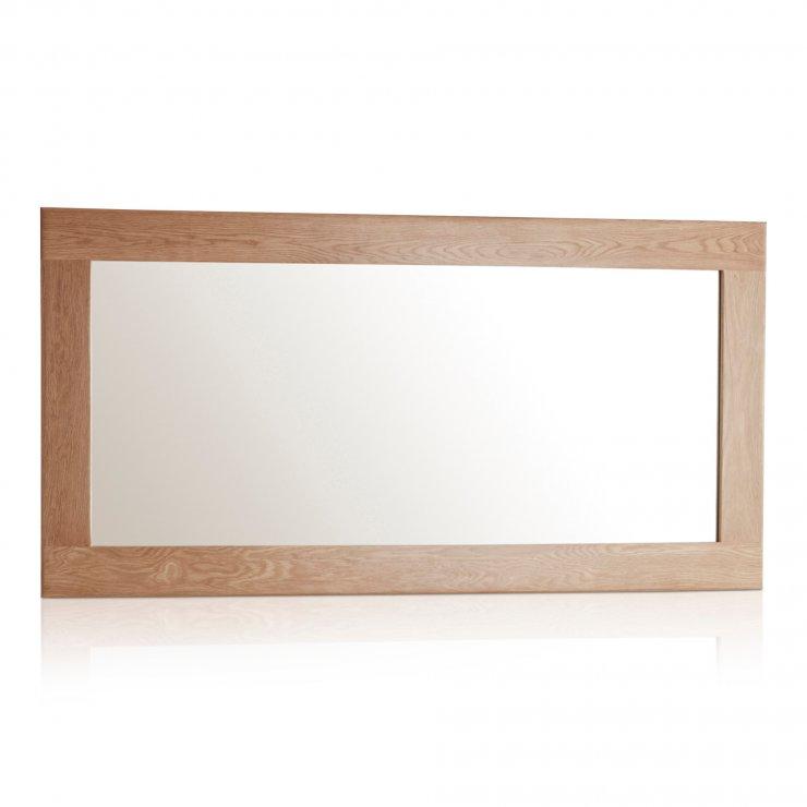 Oakdale Natural Solid Oak 1200mm x 600mm Wall Mirror - Image 4