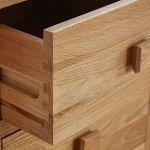 Oakdale Natural Solid Oak 2 Drawer Bedside Table - Thumbnail 4