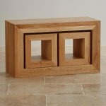 Oakdale Natural Solid Oak 3 Cube Nest of Tables - Thumbnail 2