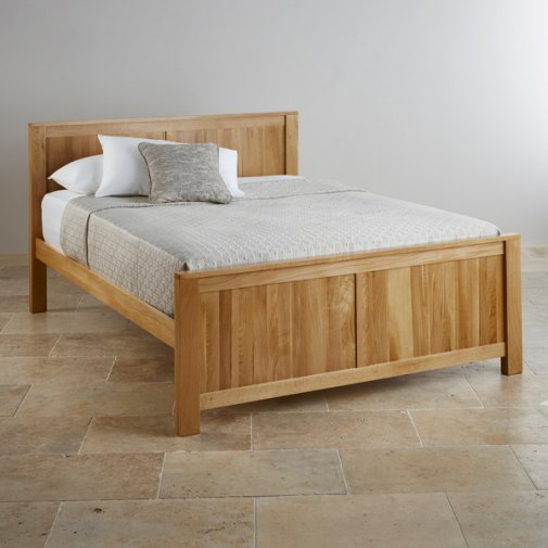 "Oakdale Natural Solid Oak 4ft 6"" Double Bed"