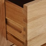 Oakdale Natural Solid Oak 4ft Tall CD Storage - Thumbnail 3