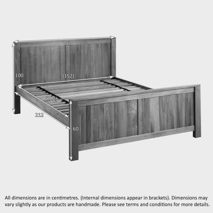 Oakdale Natural Solid Oak 5ft King-Size Bed