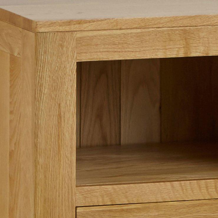 Oakdale Natural Solid Oak Bedside Table