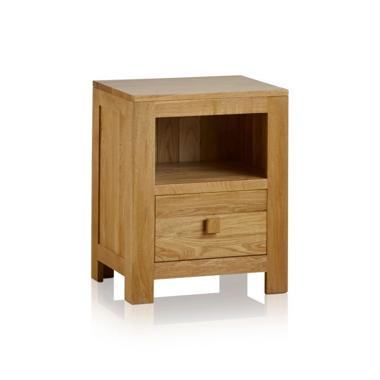 Oakdale Natural Solid Oak Bedside Table - Image 1
