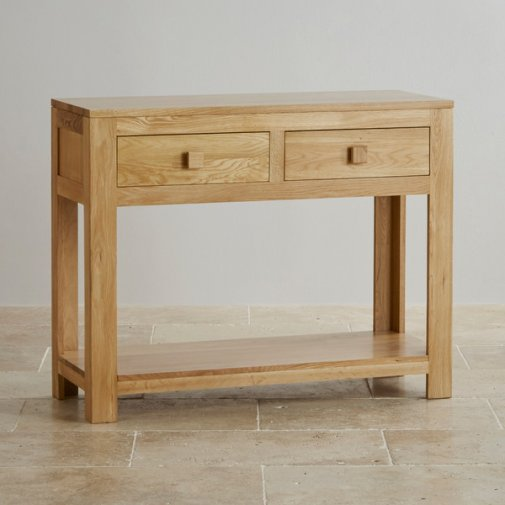 Oakdale Natural Solid Oak Console Table