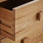 Oakdale Natural Solid Oak Dressing Table - Thumbnail 4