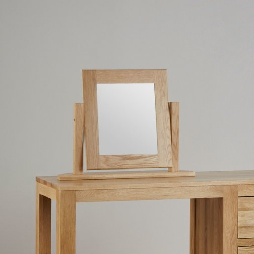 Oakdale Natural Solid Oak Dressing Table Mirror
