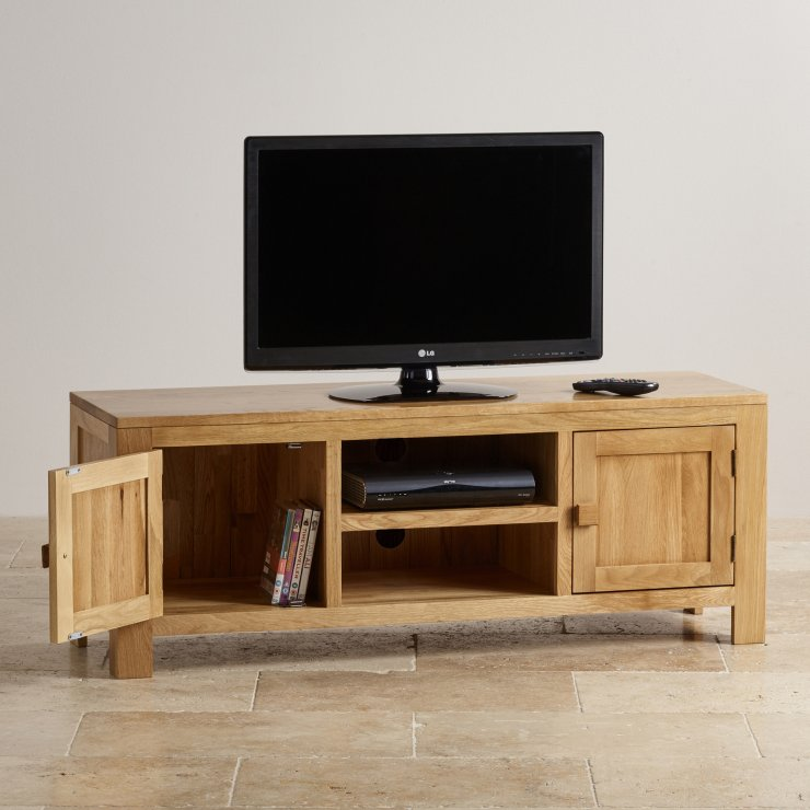 Oakdale Natural Solid Oak Large TV Cabinet