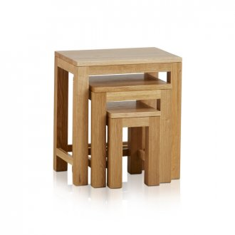 Oakdale Natural Solid Oak Nest of Tables