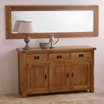 Original Rustic Solid Oak 1800mm x 600mm Wall Mirror - Thumbnail 3
