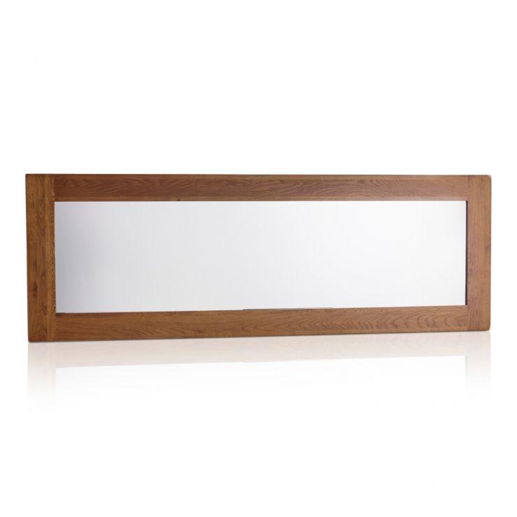 Original Rustic Solid Oak 1800mm x 600mm Wall Mirror - Image 4