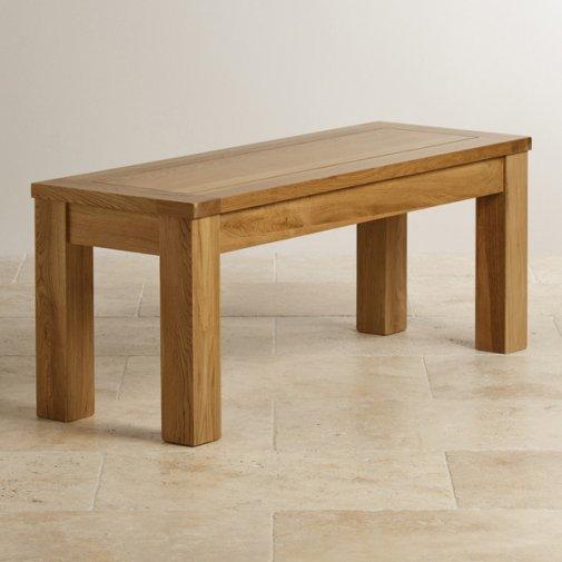 "Original Rustic Solid Oak 3ft 7"" Bench"