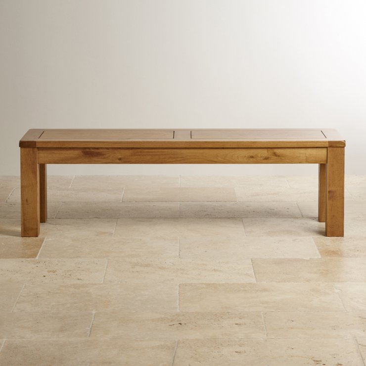 "Original Rustic Solid Oak 4ft 11"" Bench"