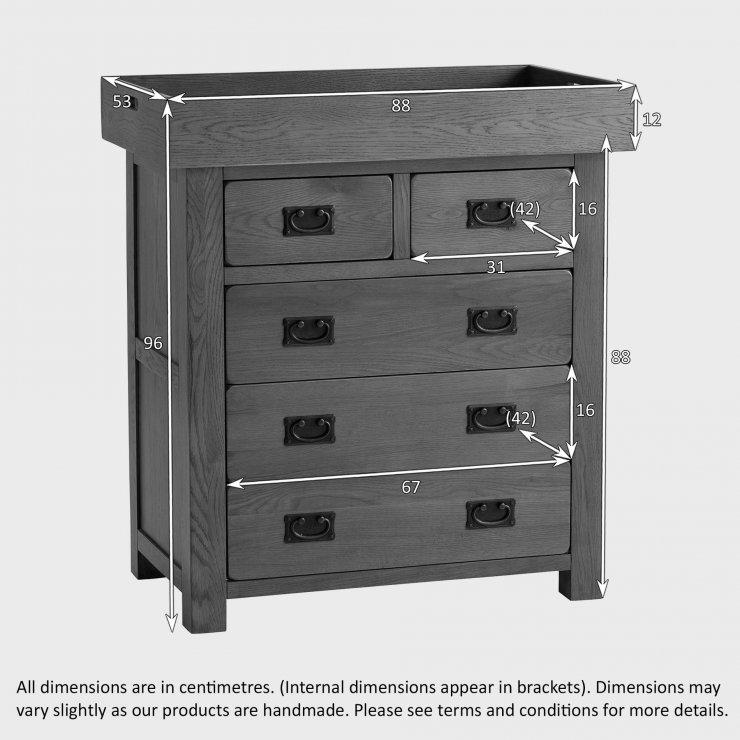 Original Rustic Solid Oak Baby Changer Dresser