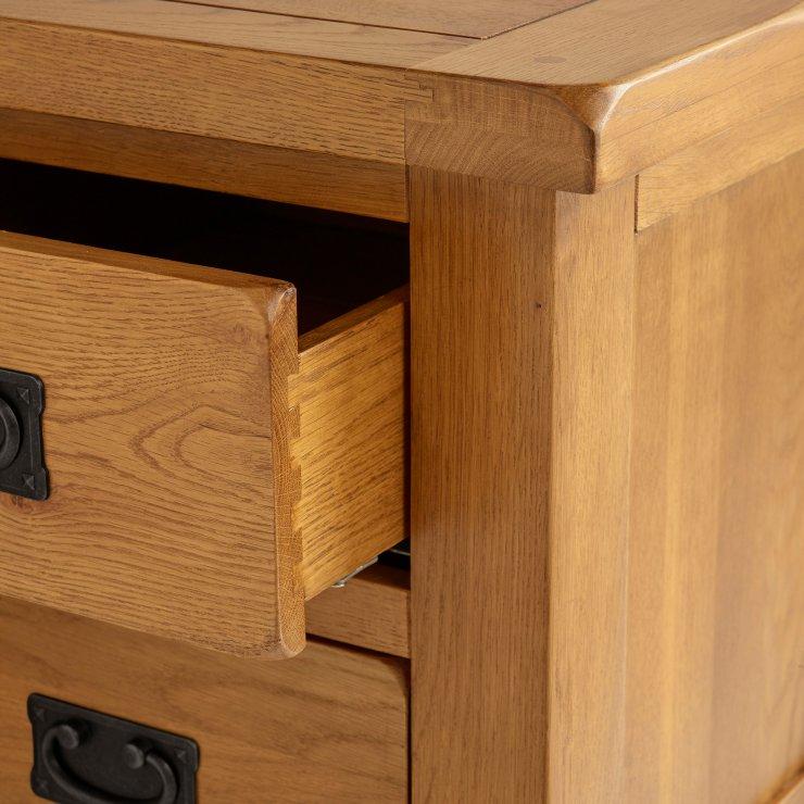 Original Rustic Solid Oak Nursery 3+2 Chest of Drawers