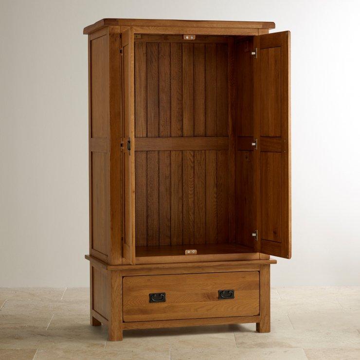 Original Rustic Solid Oak Nursery Wardrobe