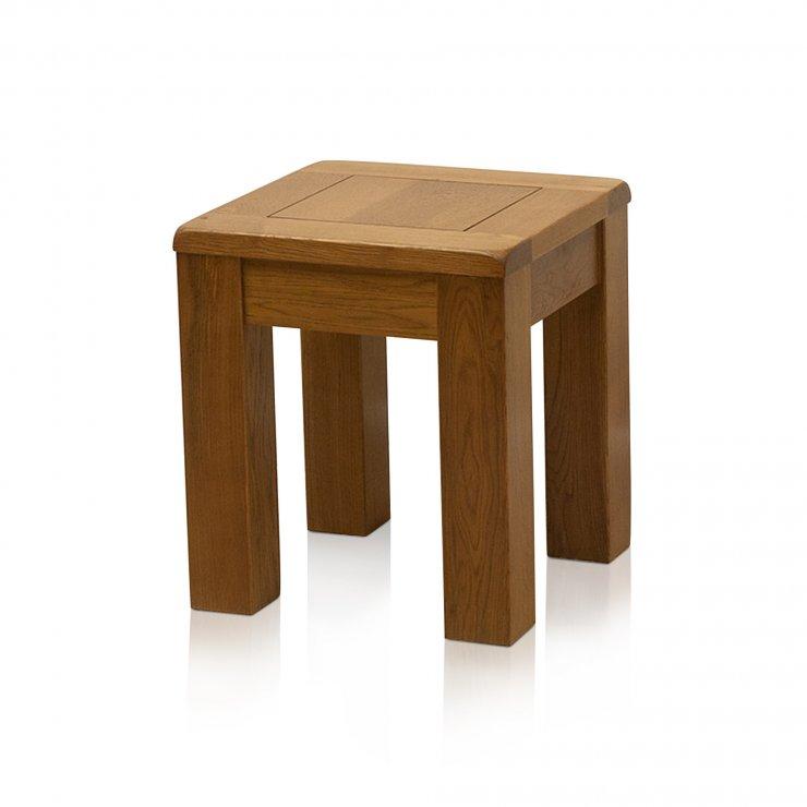 Original Rustic Solid Oak Side Table - Image 3
