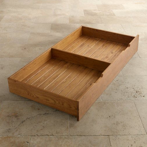 Original Rustic Solid Oak Under Cot Storage Drawer