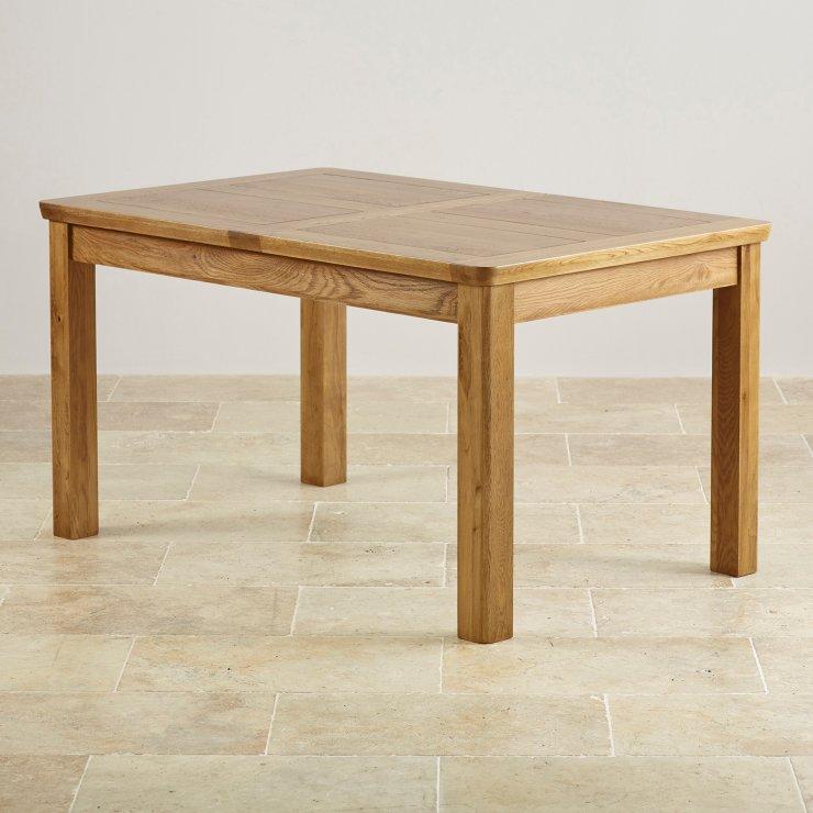 "Orrick Rustic Solid Oak 4ft 7"" x 3ft Extending Dining Table - Image 5"