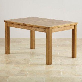"Orrick Rustic Solid Oak 4ft 7"" x 3ft Extending Dining Table"