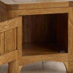Orrick Rustic Solid Oak 1 Door Bedside Cabinet - Thumbnail 4