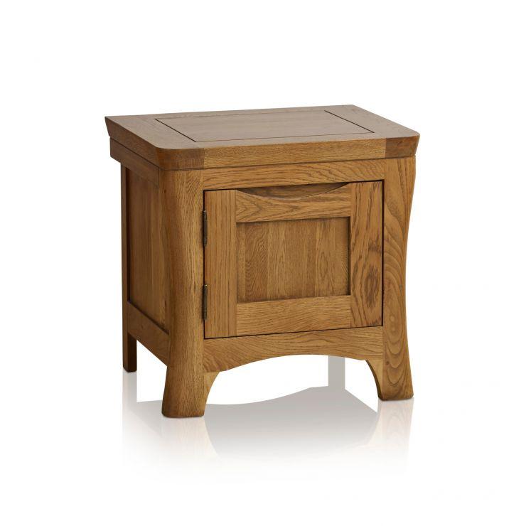 Orrick Rustic Solid Oak 1 Door Bedside Cabinet - Image 5