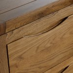 Orrick Rustic Solid Oak 2 Drawer Bedside Table - Thumbnail 3