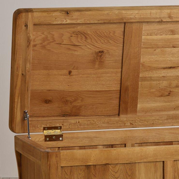 Orrick Rustic Solid Oak Blanket Box