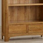 Orrick Rustic Solid Oak Tall Bookcase - Thumbnail 4