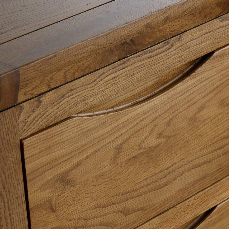 Orrick Rustic Solid Oak 3+2 Drawer Chest