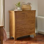 Orrick Rustic Solid Oak 3+2 Drawer Chest - Thumbnail 3