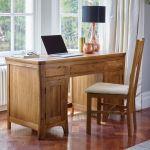 Orrick Rustic Solid Oak Computer Desk - Thumbnail 3