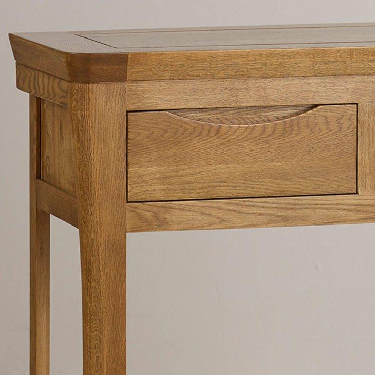 Orrick Rustic Solid Oak Console Table