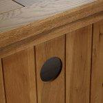 Orrick Rustic Solid Oak Corner TV Cabinet - Thumbnail 5