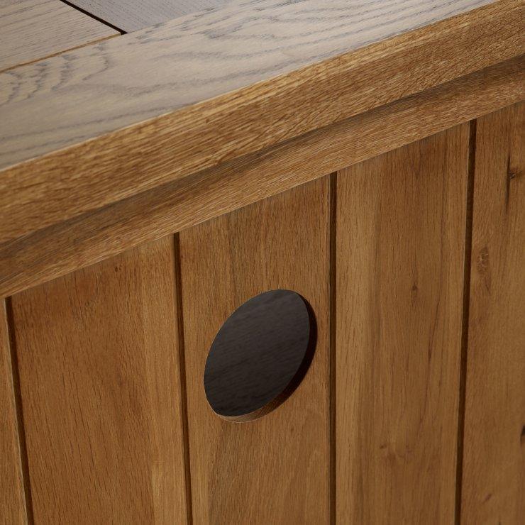 Orrick Rustic Solid Oak Corner TV Cabinet