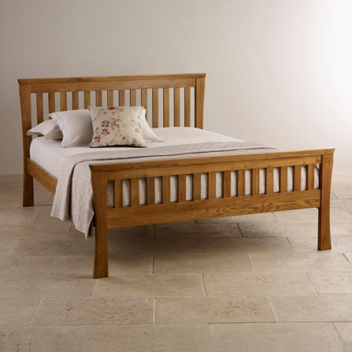 "Orrick Rustic Solid Oak 4ft 6"" Double Bed"