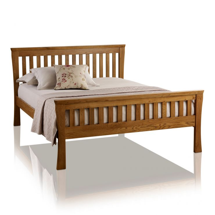 "Orrick Rustic Solid Oak 4ft 6"" Double Bed - Image 5"