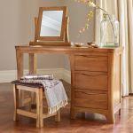 Orrick Rustic Solid Oak Dressing Table - Thumbnail 3