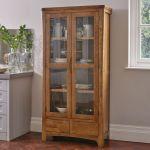 Orrick Rustic Solid Oak Glazed Display Cabinet - Thumbnail 3