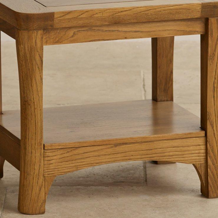 Orrick Rustic Solid Oak Lamp Table