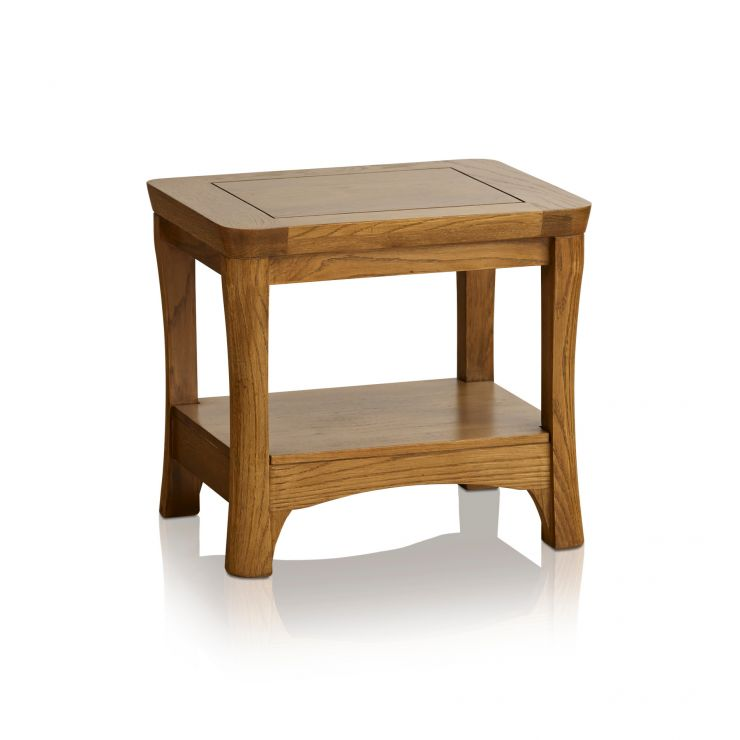 Orrick Rustic Solid Oak Lamp Table - Image 5