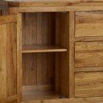 Orrick Rustic Solid Oak Large Sideboard - Thumbnail 4