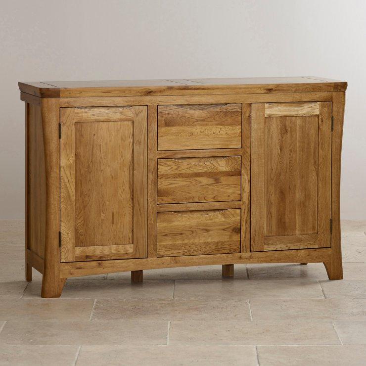 Orrick Rustic Solid Oak Large Sideboard