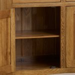 Orrick Rustic Solid Oak Small Sideboard - Thumbnail 4