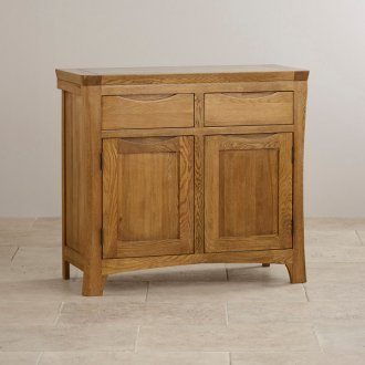Orrick Rustic Solid Oak Small Sideboard